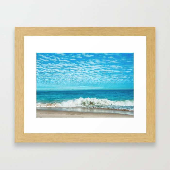 Waves on Beach Framed Art Print