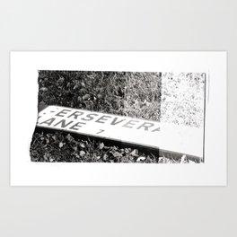 Perseverance lane 11 Art Print