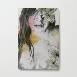 One Second II (autumn nude goddess erotic portrait) Metal Print