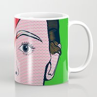 david bowie Mugs featuring David Bowie by Alli Vanes