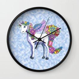 Madeline the Magic Unicorn 2 Wall Clock