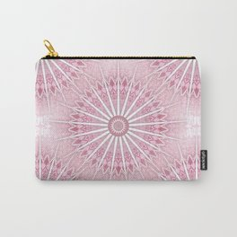 Dusky Pink Mandala Carry-All Pouch