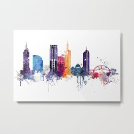 Melbourne city watercolor Metal Print