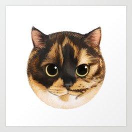 Round Cat - Lang Art Print