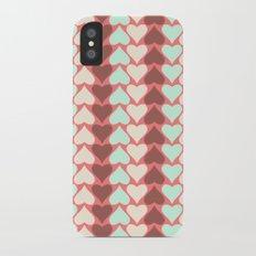 Creamy Hearts  Slim Case iPhone X
