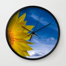 Concept Sunflower Greetingcards Wall Clock