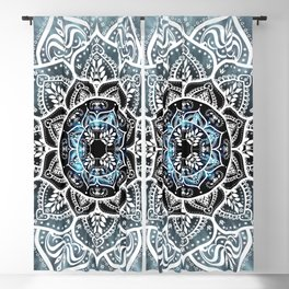 Mandala Nirvana Blue Spiritual Zen Bohemian Hippie Yoga Mantra Meditation Blackout Curtain