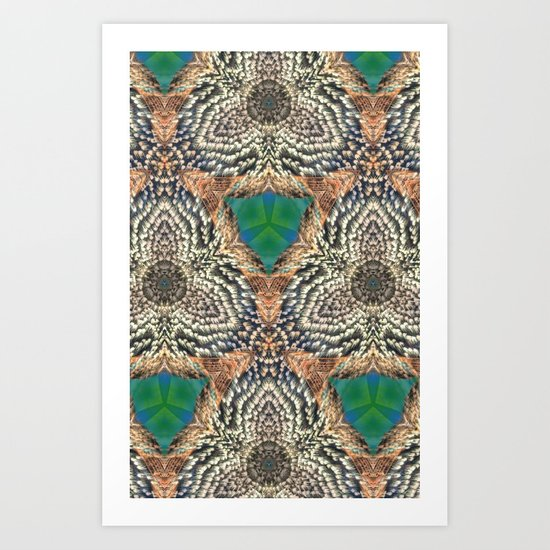 Green Bits Art Print