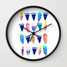 Candy Feather Wall Clock