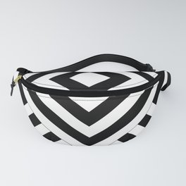 Geometries in black and white. Fanny Pack