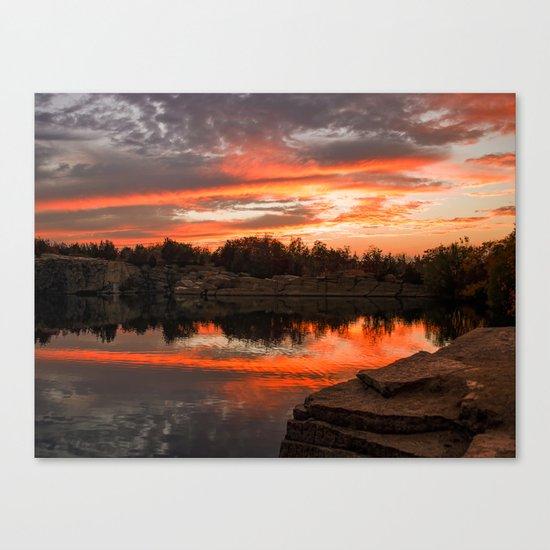 Sunset at Halibut Point Quarry Canvas Print
