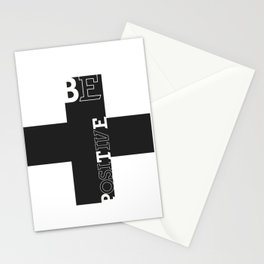 Be positive Stationery Cards