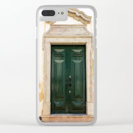 Old door in Tavira, Portugal Clear iPhone Case