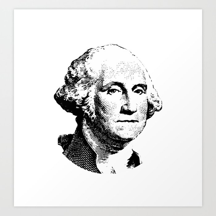 picture relating to Printable Pictures of George Washington named President George Washington Artwork Print by way of warisstore