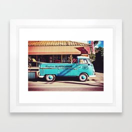 Haleiwa Surf Truck - North Shore Oahu Hawaii Framed Art Print