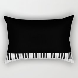 Piano Keyboard Rectangular Pillow