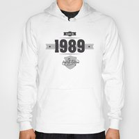 1989 Hoodies featuring Born in 1989 by ipiapacs