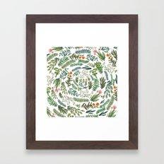 water color rotation garden Framed Art Print