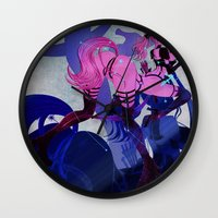 sagittarius Wall Clocks featuring SAGITTARIUS by Chandelina