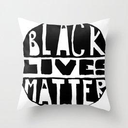 Black Lives Matter Filled Throw Pillow