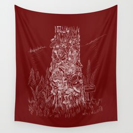 Shoetree in Deep Red Wall Tapestry