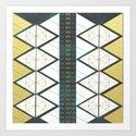 Modern Gold Aqua Geometric Pattern by oldurbanfarmhouse