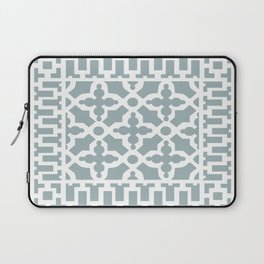 Kirkbride Victorian Ventilation Grille Design Pale Blue Laptop Sleeve