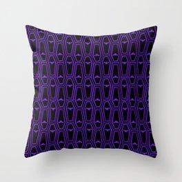 Hanging Til' Halloween - Purple Throw Pillow