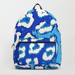 Blue and White Leopard Spots Backpack