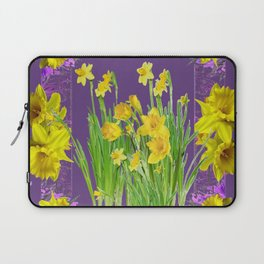 DAFFODIL SPRING GARDEN & PURPLE  DESIGN ART Laptop Sleeve