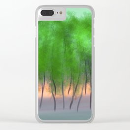 Tall Trees #1 Clear iPhone Case