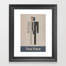 Retro Two Face Framed Art Print