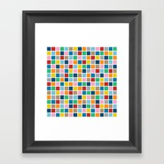 Colour Block Outline Framed Art Print