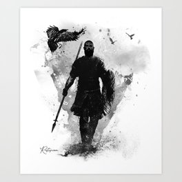 The Viking One Step At A Time to Vahalla Art Print