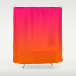 Bright Pink and Orange Ombre Shower Curtain