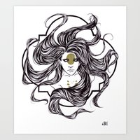clover Art Prints featuring Clover by Cassie Wolfe