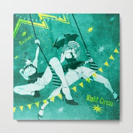 GEMINI NIGHT ☆ CIRCUS Metal Print