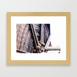 Big Wheel Keeps on Turning Framed Art Print
