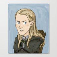 legolas Canvas Prints featuring Legolas by quietsnooze