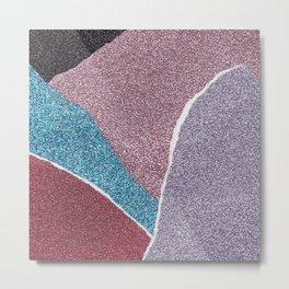 Glitter Paper Collage #7 Metal Print