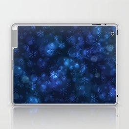 Blue Snowflakes Winter Christmas Pattern Laptop & iPad Skin