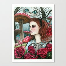 Alice in W-land Canvas Print