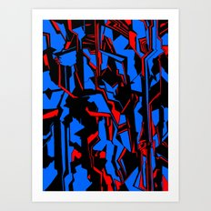 Nightlines Art Print