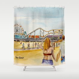 Santa Monica Pier Ferriswheel Shower Curtain