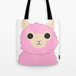 Pink Little Alpaca Tote Bag