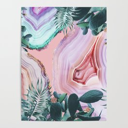 Mineral Agates & Garden #Glam collection Poster