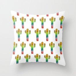 Desert Rainbow II PRIDE PATTERN Throw Pillow