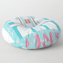 Miami Landmarks - Hotel Webster Floor Pillow