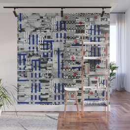 The Way of Invisible Things (P/D3 Glitch Collage Studies) Wall Mural