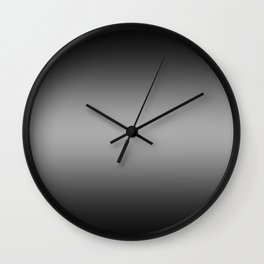 Black to White Horizontal Bilinear Gradient Wall Clock